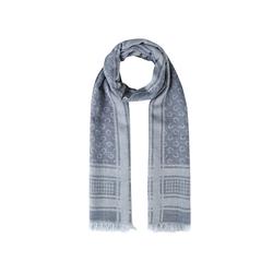 Logo-Schal aus Baumwolle und Wolle Codello navy blue