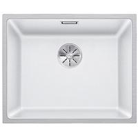 Blanco Subline 500-IF SteelFrame weiß + Handbetätigung + InFino