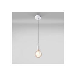 lux.pro Hängeleuchte, Stylische Hängeleuchte Basel - weiß - 1x E27 weiß