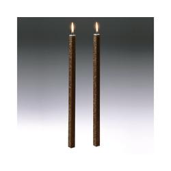 Amabiente Kerzenhalter Kerze CLASSIC kaffeebraun 40cm - 2er Set