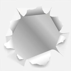 Dekospiegel »Papier«, Spiegel, 99517430-0 weiß (B/H/T): 40/40/0,3 cm weiß