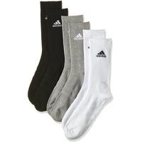 adidas Cushioned Crew 3er Pack medium grey heather/medium grey heather/black 43-45