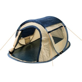 CampFeuer Quicktent blau/beige