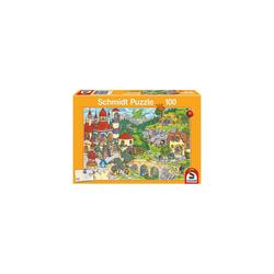 Schmidt Spiele Puzzle Puzzle, 100 Teile, 36x24 cm, Im Land der Märchen, Puzzleteile