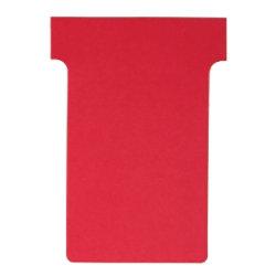Nobo T-Steckkarten 3 Rot 6 x 8,5 cm 100 Stück
