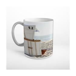 DesFoli Tasse Strandkorb Meer Strand Sylt T1991, Keramik