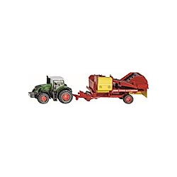 SIKU 1808 Traktor mit Kartoffelroder 1:87