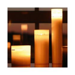 Amabiente Kerzenhalter Kerze COCOON 10x10 cm rot