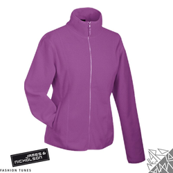 Damen Fleecejacke | James & Nicholson lila XXL
