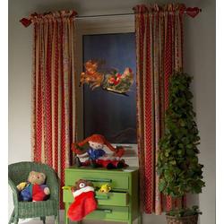 Konstsmide 2853-010 LED-Fensterbild Rentier, Weihnachtsmann LED Bunt mit Schalter