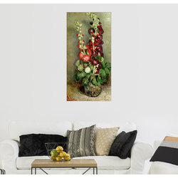 Posterlounge Wandbild, Vase mit Rosenmalven 50 cm x 100 cm