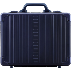 ALEON Aktenkoffer Aluminiumkoffer Attaché Laptop Case, 30 cm blau