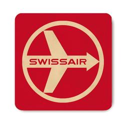 LOGOSHIRT Untersetzer im Swissair-Design rot