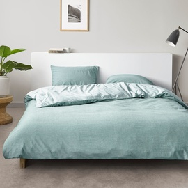Marc O'Polo Washed Chambray aqua (135x200+80x80cm)