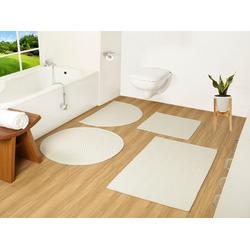 Badematte Badesache COUCH♥, Höhe 4 mm, Badgarnitur, 100% Baumwolle, COUCH Lieblingsstücke weiß 2-tlg. Stand-WC Set