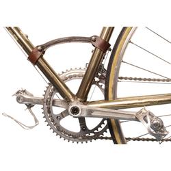 Gusti Leder Fahrradhalter Gerrie K. (1-tlg), Fahrradrahmen-Tragegriff Griff Rennrad Transportgriff Stahlrahmen