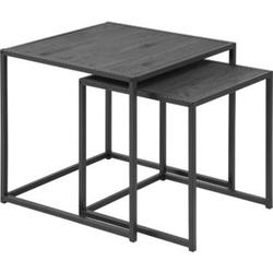 2x Couchtisch Sea Esche Wohnzimmer Tisch Beistelltisch Kaffeetisch Ablage Set