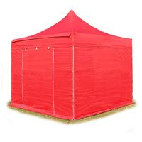 TOOLPORT Faltpavillon 3 x 3 m  inkl. Seitenteile rot
