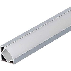 Set: LED Profil, 100cm Profil LED 45° für LED Streifen, Aluminium led Profil + Abdeckung (Milchig) LT3