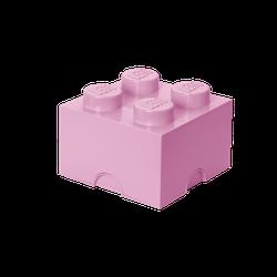 LEGO® Aufbewahrungsstein mit 4 Noppen in Rosa