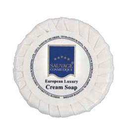 Sauvage Hotelkosmetik Seife in Plissee-Papier, Mit Easy opening Folienaufkleber, 1 Karton = 500 Stück à 15 g