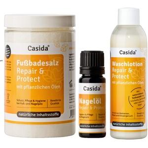 Nagelöl Repair & Protect + Fußbadesalz + Waschlotion Set zur Hygiene und Pflege bei Fußpilz, Nagelpilz mit pflanzlichen Ölen aus der Apotheke