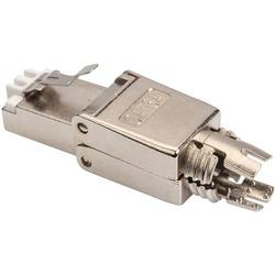 Digitus CAT 6A Feldstecker, RJ45, geschirmt, AWG 22-27, werkzeugfreier Montageanschluss Stecker, ger
