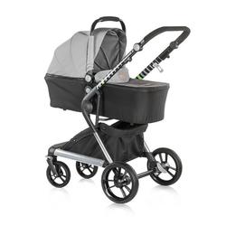 Chipolino Kombi-Kinderwagen Kinderwagen Fusion 2 in 1, Kollektion 2018, Sportaufsatz und Babywanne grau