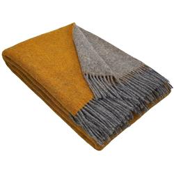 Wolldecke Wolldecke TIROL (doubleface) aus 100% Schurwolle, STTS gelb