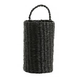 Nordal Rattankorb / Flaschenhalter Schwarz 20 cm