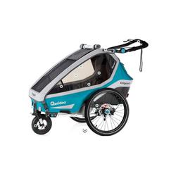 Qeridoo Fahrradkinderanhänger Qeridoo Kidgoo1 Sport 2020 blau
