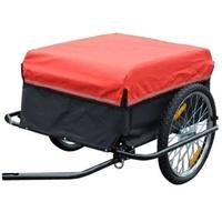 Homcom CargoTrailer schwarz/rot