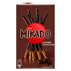 Mikado Zartherbe Keksstäbchen mit Überzug aus dunkler Schokolade 75g 4er Pack
