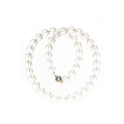 Bella Carina Perlenkette Bergkristall 10 mm, echter Bergkristall weiß 50 cm