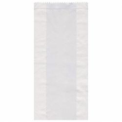 Papierfaltenbeutel weiß 14+7 x 32 cm für ca. 2kg Inhalt, 1000 Stk.