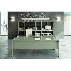 TREND TOWER Büromöbel-Set, Chefeinrichtung mit Regalsystem, 500x450cm