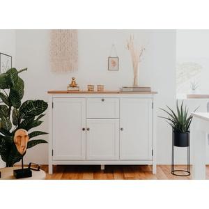 Bergen Sideboard weiß 120 cm mit Türen und Schubkasten