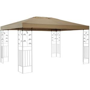 QUICK STAR Ersatzdach für Blätter Pavillon 3x4m Pavillondach Sand Ersatzbezug