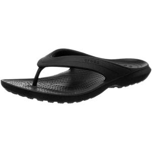 Crocs Classic Flip, Unisex - Erwachsene Zehentrenner, Schwarz (Black), 46/47 EU