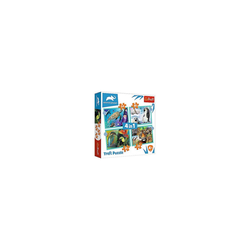 Trefl Puzzle 4 in 1 Puzzle The mysterious world of animals -, Puzzleteile