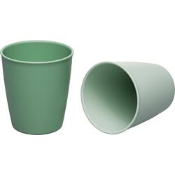 """nip Kindergeschirr-Set Becher """"green"""" 2er Pack - grün grün"""