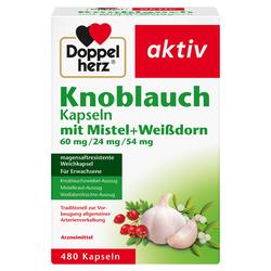 DOPPELHERZ Knobl.Kap.m.Mistel+Weißdorn 60/24/54 mg 480 St