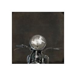 queence Holzbild Harley, Motorräder (1 Stück) 50 cm x 50 cm