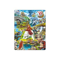 Larsen Puzzle Rahmen-Puzzle, 30 Teile, 36x28 cm, Märchen, Puzzleteile