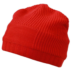Beanie im Ripp-Design | Myrtle Beach light-red