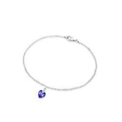 Armband Herz Kristalle 925 Sterling Silber Elli Violett