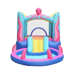 Château Aquatique Gonflable pour enfants jouet en plein air Aire de jeux extérieure avec Tobbogan