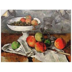 Artland Wandbild Stillleben mit Obstschale, Arrangements (1 Stück) 40 cm x 30 cm