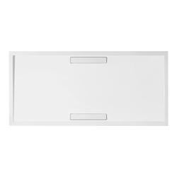 Villeroy & Boch Squaro Super Flat Rechteck Quaryl®-Duschwanne 180 x 90 cm… Grau (matt)