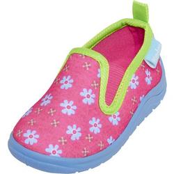 Playshoes Hausschuh Blumen pink
